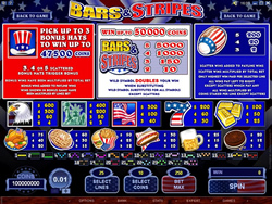 Bars n Stripes Pay Screen